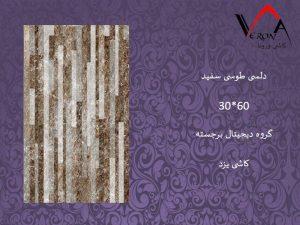 سرامیک دلسی طوسی سفید - شرکت کاشی یزد سرام